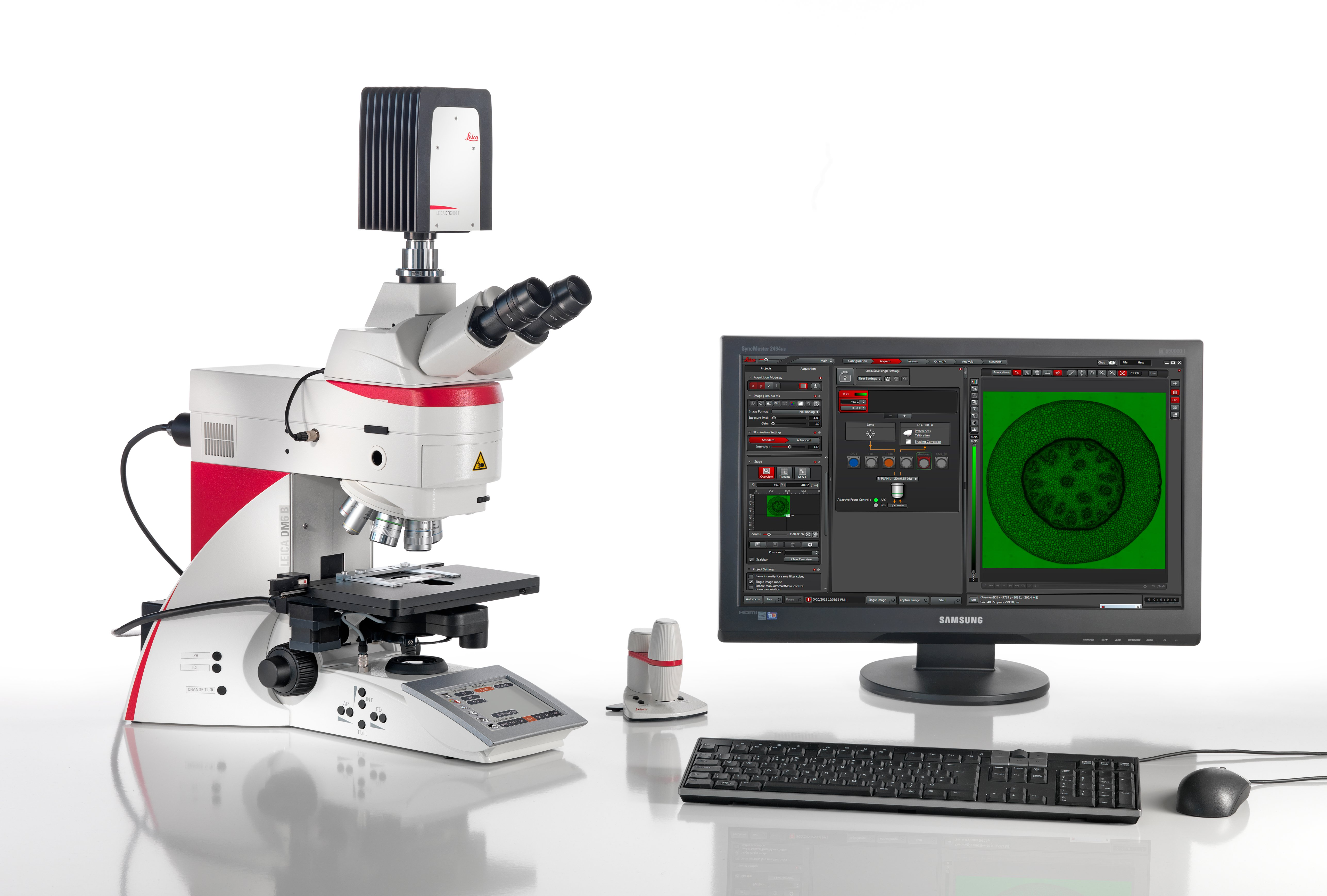 LAS X Widefield Systems performs workflow-guided advanced image analysis and includes a full range of image enhancement tools.