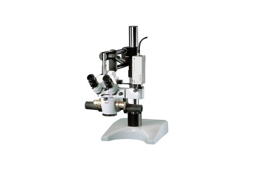 The Leica M651 MSD tabletop surgical microscope for the practice of microsurgery.