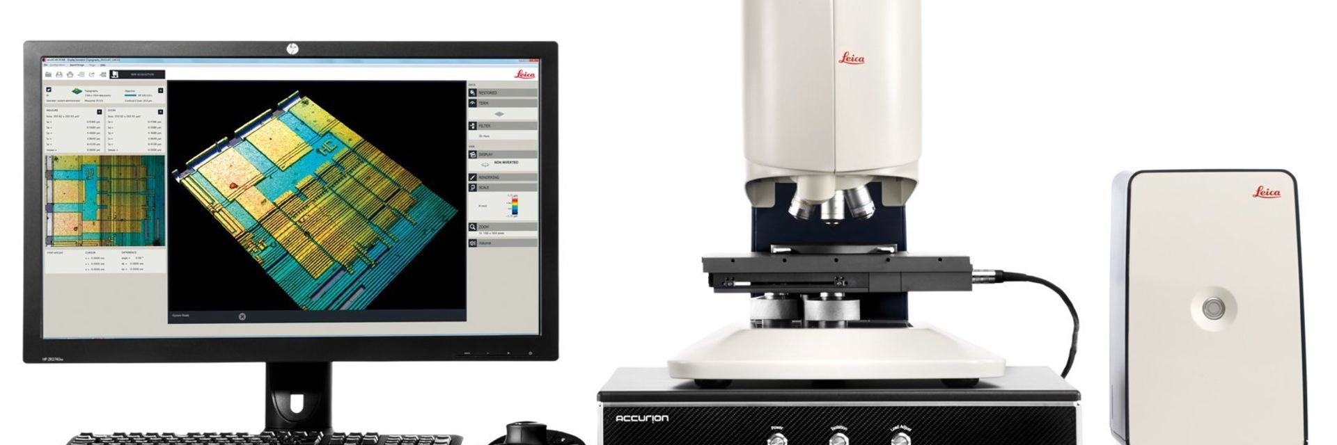 [Translate to chinese:] Leica DCM8 is a 3D surface metrology microscope that unites confocal microscopy and interferometry in one instrument.